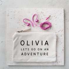 Personalised Travel Adventure Pouch