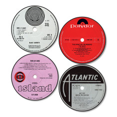 Classic Rock Record Label Coasters (Set Two)