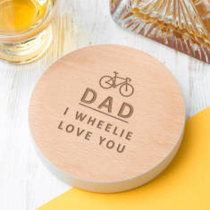 Personalised 'I Wheelie Love You' Cycling Pun