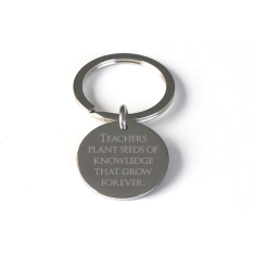 Engraved Teacher Appreciation Keyring