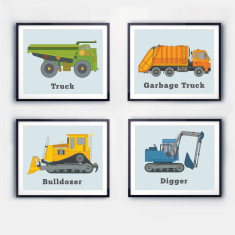 Truck Prints (set of 4)