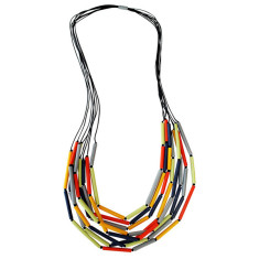 Sahara tubular resin necklace