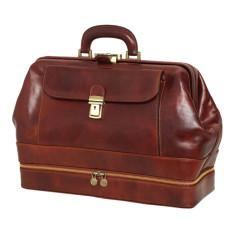 Hippocrates doctors bag in brown