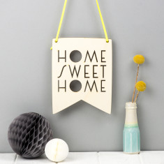 Home Sweet Home Wooden Wall Pennant