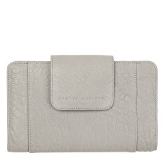 Precipice leather wallet in cement