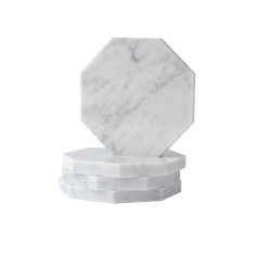 Octagon Marble Coasters