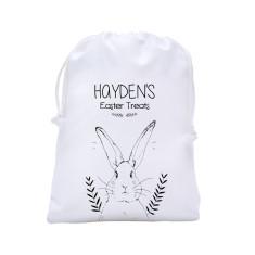 Personalised Easter egg hunt tote bag in monochrome design