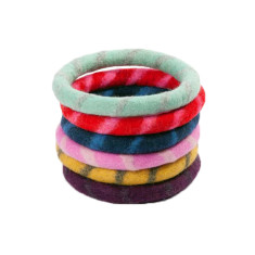 Felted Wool Flying Ring Pet Toys - Set of Two