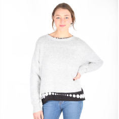 Go Anywhere Mohair Knit Sweater - Grey