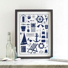 Nicely nautical screen print