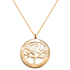 Women's personalised Tree of Life necklace