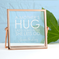 Engraved Never Let Go Rose Gold Frame