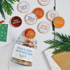 Personalised Couple's Winter Date Ideas Jar