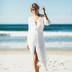 Trinidad button down maxi dress