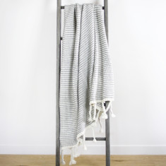 Mason Waffle Knit Throw - Grey