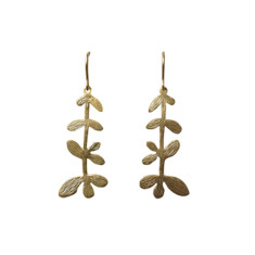 Nine leaf branches earrings (gold)