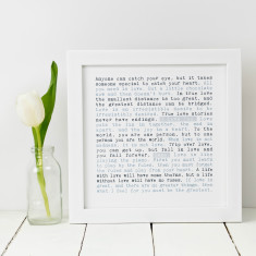 Personalised I love you print