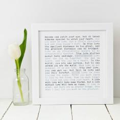 Personalised I love you print