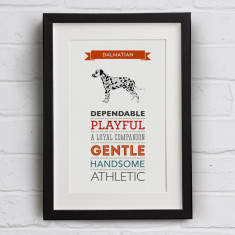 Dalmatian Dog Breed Traits Print