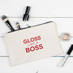 Gloss like a boss make up pouch