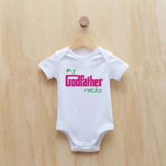 My godfather rocks bodysuit in blue or pink