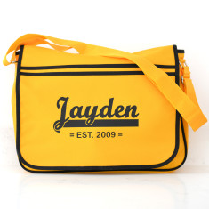 Personalised Retro Messenger Bag