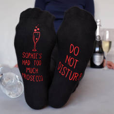 Do Not Disturb Too Much Prosecco Socks
