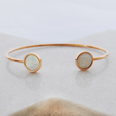 Eternal bangle in shell and rose gold