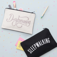 Daydreaming/Sleepwalking Double Sided Pouch