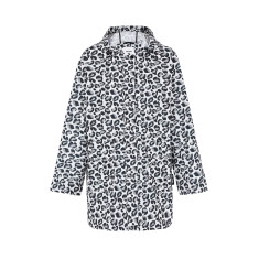 Women's any day raincoat in geo leopard