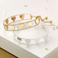 Ladies Love Letters Bracelet (Sterling Silver & Gold Vermeil)