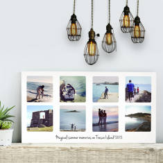 Personalised Photo Collage Landscape Canvas