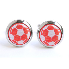 Hannmaid Red Soccer Cufflinks