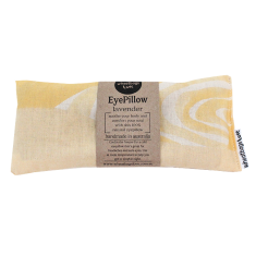 Lavender or rose scented eye pillow in yellow