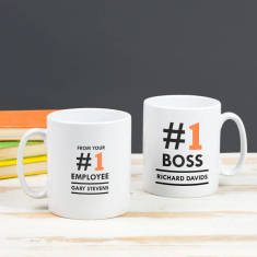 Personalised #One Boss Mug