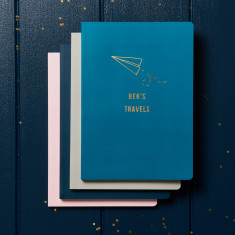 Personalised Gold Foil A5 Travel Notebook