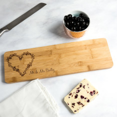 Personalised Bamboo Serving Board Wedding Gift