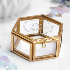 Personalised Mini Hexagon 'Mrs' Jewellery Box