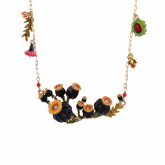 Poppy's Head On Branch Long Necklace