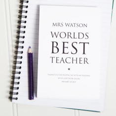 Personalised World's Best Teacher Notepad