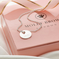 Personalised Hope Small Heart Necklace