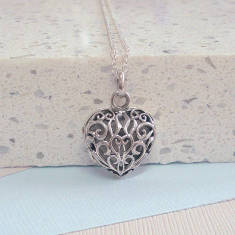 Sterling Silver Antique Style Heart Locket