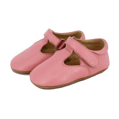 Pre-walker leather t-Bar shoes in pink