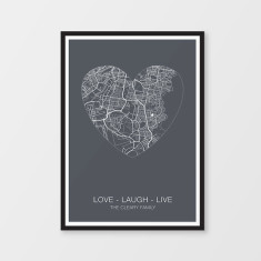Personalised word art print hardtofind custom heart map print gumiabroncs Images