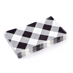 Gingham paper napkins (3 packs of 20)