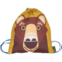 Organic cotton Brown Bear rucksack