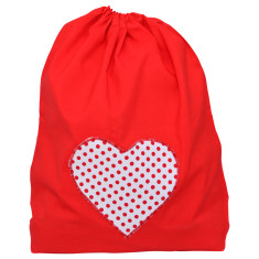 Heart felt mini Santa sack