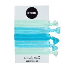 No kinky stuff hair ties in aqua baby