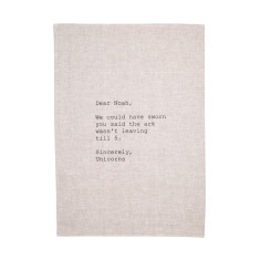 Dear Noah tea towel