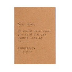Dear Noah, sincerely the unicorns notebook